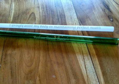 Glass Straw Affirmation